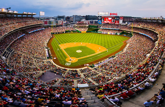 Major League Baseball Stadiums Map and Log